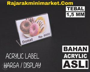 DISPLAY ACRYLIC - AKRILIK LABEL HARGA 4X6CM JAKARTA