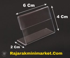 DISPLAY ACRYLIC - AKRILIK LABEL HARGA 4X6CM