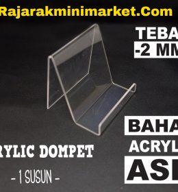 DISPLAY ACRYLIC - AKRILIK DOMPET 1 SUSUN