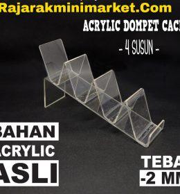 DISPLAY ACRYLIC - AKRILIK DOMPET CACING 4 SUSUN BEKASI BOGOR