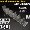 DISPLAY ACRYLIC - AKRILIK DOMPET CACING 6 SUSUN