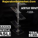 DISPLAY ACRYLIC - AKRILIK SEPATU 4 SUSUN