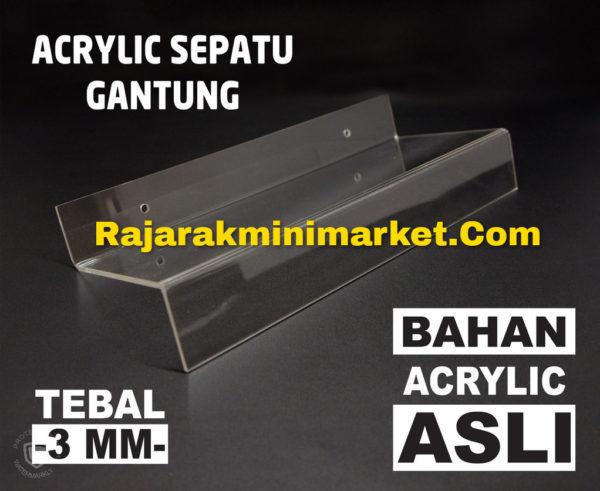 DISPLAY ACRYLIC - AKRILIK SEPATU GANTUNG BOGOR BEKASI TANGERANG