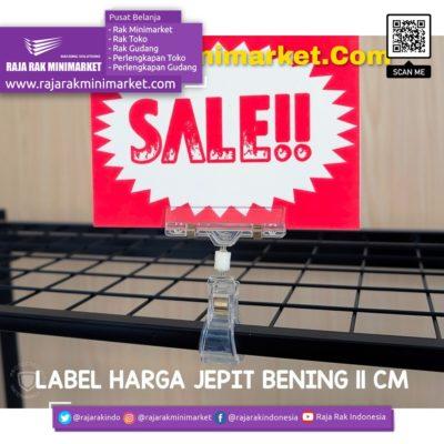 DISPLAY HARGA JEMPOL JEPIT BENING 11CM rajarakminimarket raja rak indonesia raja rak gudang