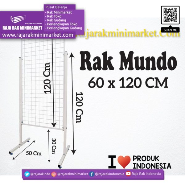 RAK MUNDO 60X120 CM rajarakminimarket raja rak indonesia raja rak gudang