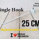 SINGLE HOOK 25 CM / 10 PCS - CANTOLAN KAWAT GANTUNGAN PIPA KOTAK