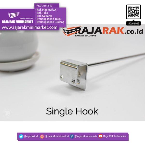 Single Hook 20 cm CHROME – Single Hook Pipa Kotak – Cantolan Kotak Display Aksesoris