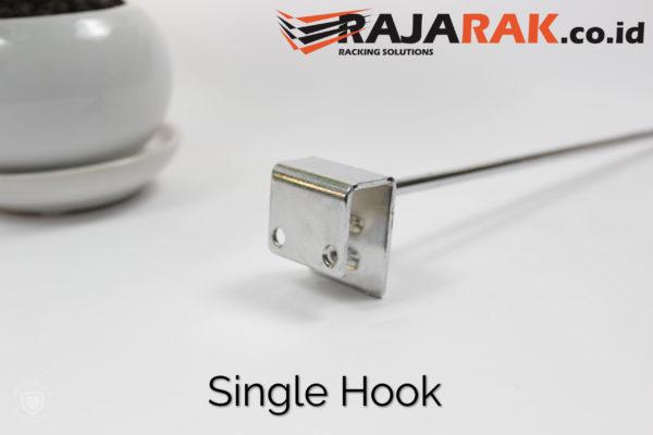 Single Hook 30 cm CHROME – Single Hook Pipa Kotak – Cantolan Kotak Display Aksesoris rajarakminimarket raja rak indonesia raja rak gudang