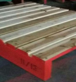 PALLET KAYU TWO WAYS ENTRY NON RIVERSIBLE