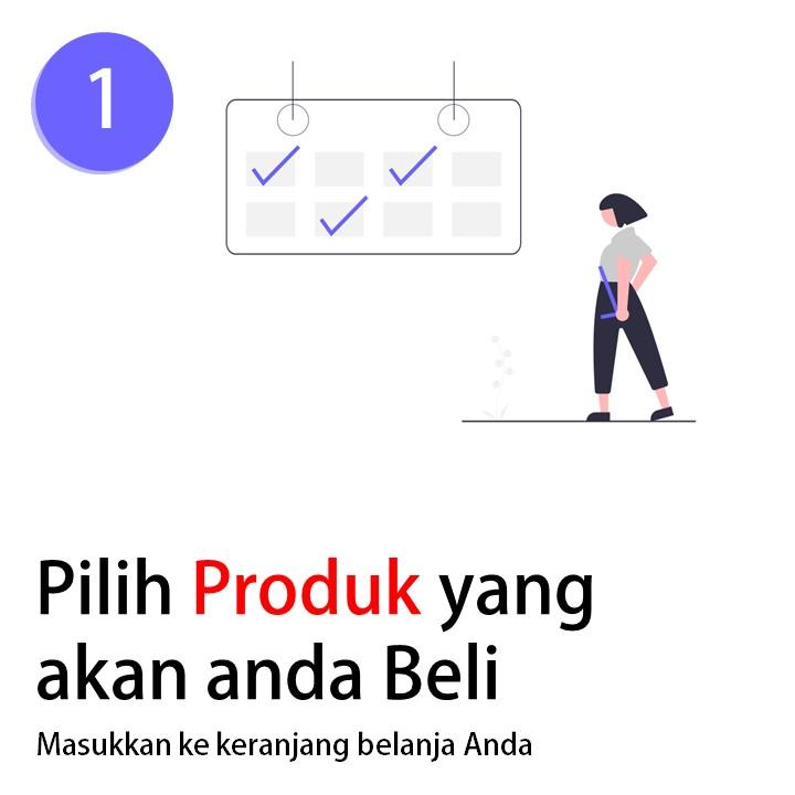 1. Pilih Produk yang akan Anda beli. (masukkan ke keranjang belanja Anda)
