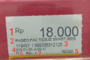 Cara Membaca Jenis-Jenis Label Price (Harga) di Alfamart dan Indomaret Yang Benar