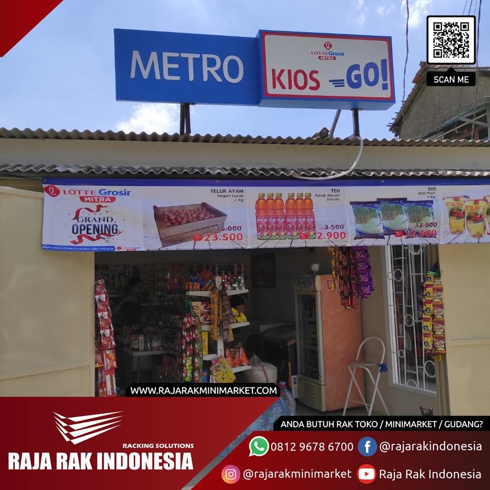 Pengiriman & Pemasangan Rak Minimarket ke Toko Metro, Limo, Depok